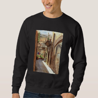 Sicilian Street Sweatshirt in Black
