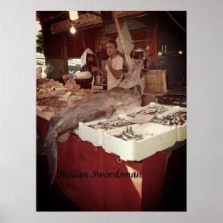 Sicilian Swordsman Poster