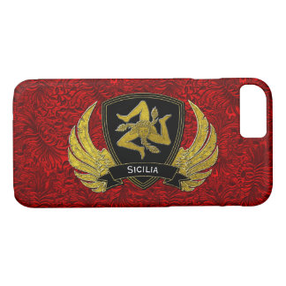 Sicilian Trinacria Black & Gold Red iPhone 8/7 Case