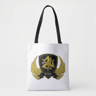 Sicilian Trinacria Black Gold & Your Color Tote Bag