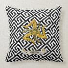 Sicilian Trinacria Greek Key Personalize Throw Pillow