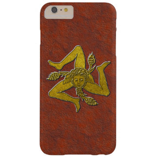 Sicilian Trinacria in Gold on Rust Barely There iPhone 6 Plus Case