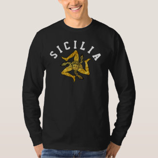Sicilian Trinacria in Gold Personalize T-Shirt