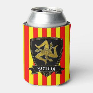 Sicilian Trinacria Stripe Can Cooler