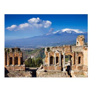 Sicily - Greek Theater of Taormina postcard
