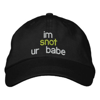sick babe snot hat embroidered baseball caps