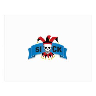 sick banner blue postcard