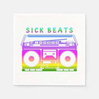 Sick Beats 1980'S Stereo Disposable Napkins