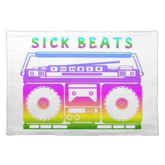 Sick Beats 1980'S Stereo Placemat