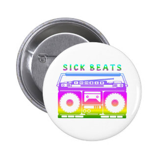 Sick Beats 80's Stereo 2 Inch Round Button