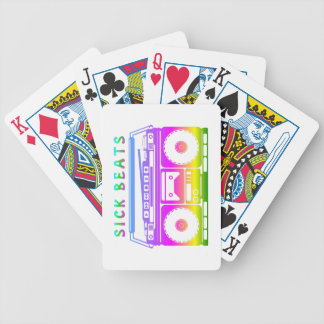 Sick Beats 80's Stereo Poker Deck
