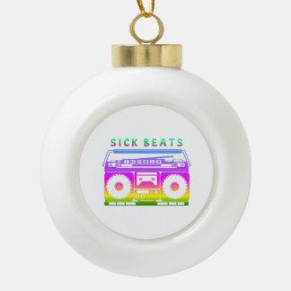 Sick Beats Ceramic Ball Ornament