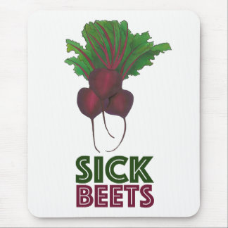 Sick Beets (Beats) Red Beet Vegetable Garden Mouse Pad