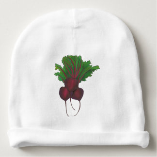 Sick Beets (Beats) Red Beet Vegetarian Funny Food Baby Beanie
