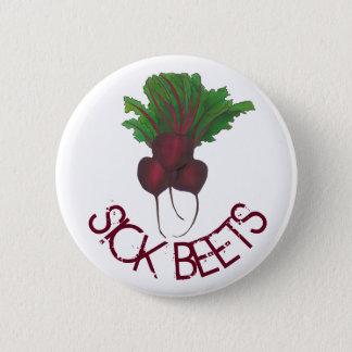 Sick Beets (Beats) Red Beet Vegetarian Vegan Food 2 Inch Round Button