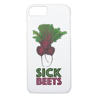 Sick Beets (Beats) Red Beet Vegetarian Vegan Food iPhone 8/7 Case