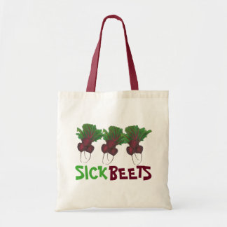 Sick Beets (Beats) Red Beet Vegetarian Vegan Food Tote Bag