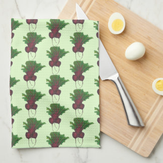 Sick Beets (Beats) Red Beetroot Garden Vegetable Kitchen Towel