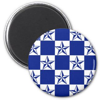 Sick Dark Blue Stars 2 Inch Round Magnet