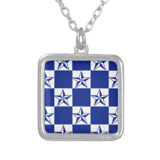 Sick Dark Blue Stars Silver Plated Necklace