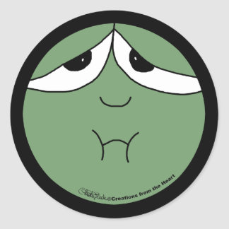 Sick Face Classic Round Sticker