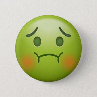 Sick note Emoji Face 2 Inch Round Button