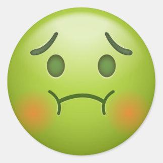 Sick note Emoji Face Classic Round Sticker