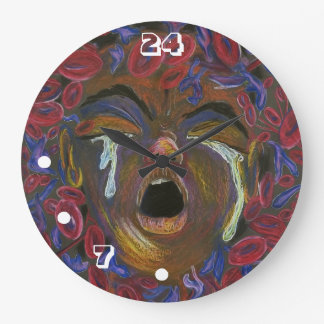 Sickle Cell 24/7 (Large) Wall Clock