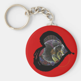 Sickle Cell Awareness Heart - Need not Suffer Keychain