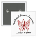 Sickle Cell Disease Butterfly 6.1 2 Inch Square Button