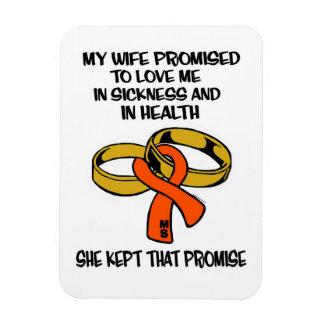 Sickness/Health...MS Rectangular Photo Magnet