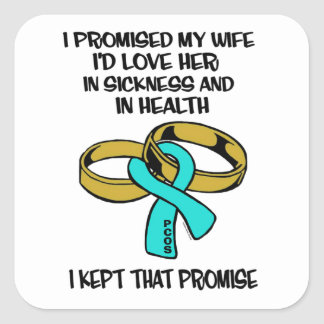 Sickness/Health...PCOS Square Sticker