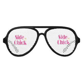 Side-Chick-Pink. Bridesmaid swag Aviator Sunglasses