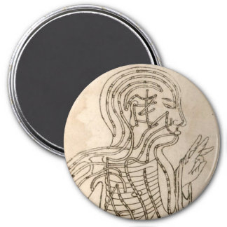Side-facing Figure 3 Inch Round Magnet