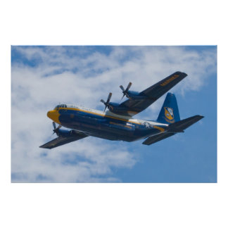 Side Shot of Blue Angels C-130 Fat Albert Poster