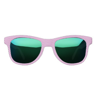 Side Stripe Design Pink Sunglasses