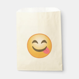 Side Tongue Emoji Favour Bag
