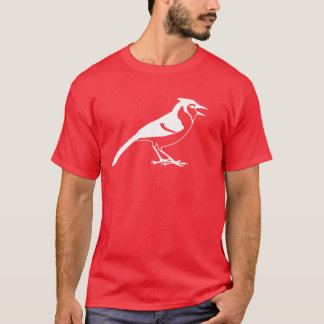 Side View of a Blue Jay Bird Silhouette T-Shirt