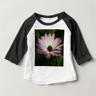 Side View of A Pink and White Osteospermum Baby T-Shirt