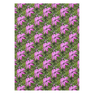 Side View Of A Purple Osteospermum With Garden Bac Tablecloth