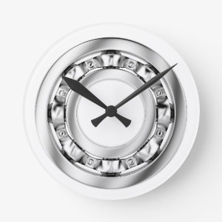 Side view of ball bearing round clock