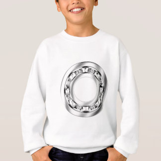 Side view of ball bearing sweatshirt