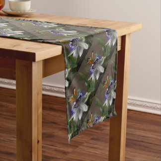 Side View of Beautiful Passiflora Flower Short Table Runner