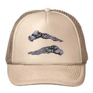 Side view of bones of the feet - deep blue trucker hat