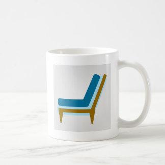 Side view of home sofa coffee mug