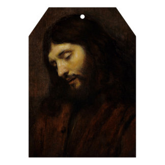 Side View of Jesus Face Personalized Announcements