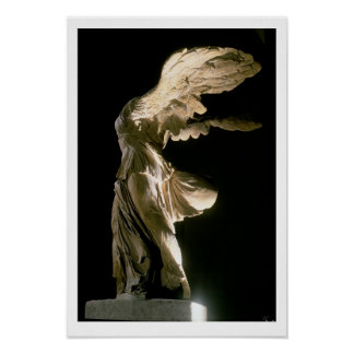 Side view of the Victory of Samothrace (Parian mar Poster