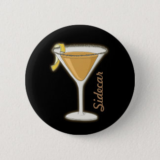 Sidecar cocktail 2 inch round button