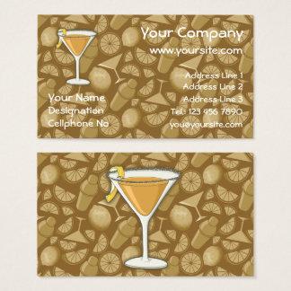 Sidecar cocktail business card