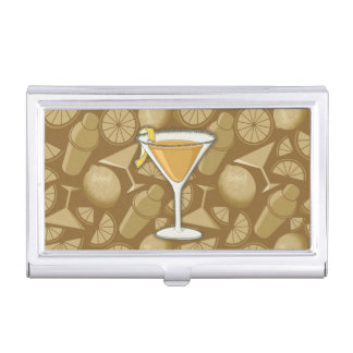 Sidecar cocktail business card holder